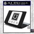 Uber Decal Sticker White Vinyl Laptop 120x120