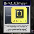 Uber Decal Sticker Yelllow Vinyl 120x120