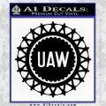 United Auto Workers UAW Decal Sticker Black Logo Emblem 120x120