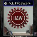 United Auto Workers UAW Decal Sticker Dark Red Vinyl 120x120