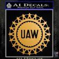 United Auto Workers UAW Decal Sticker Metallic Gold Vinyl 120x120