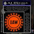 United Auto Workers UAW Decal Sticker Orange Vinyl Emblem 120x120