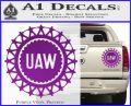 United Auto Workers UAW Decal Sticker Purple Vinyl 120x97