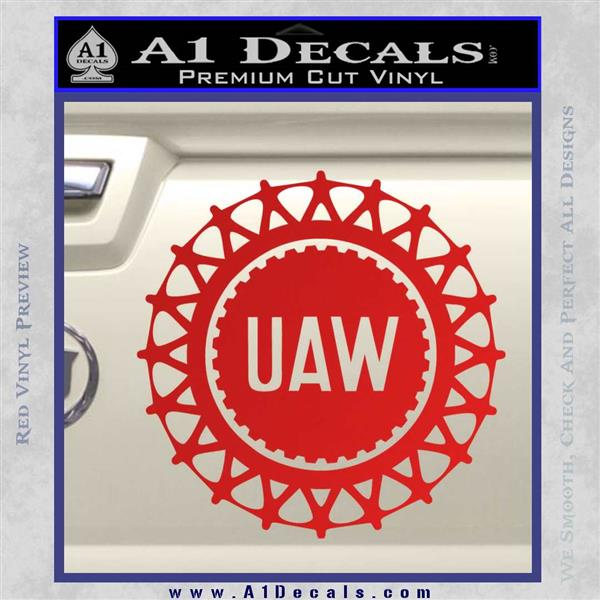 United Auto Workers Uaw Decal Sticker 187 A1 Decals