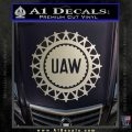 United Auto Workers UAW Decal Sticker Silver Vinyl 120x120