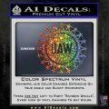United Auto Workers UAW Decal Sticker Sparkle Glitter Vinyl 120x120