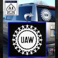 United Auto Workers UAW Decal Sticker White Emblem 120x120
