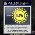 United Auto Workers UAW Decal Sticker Yelllow Vinyl 120x120