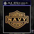 United States Navy Motorcycle Shield Decal Sticker Metallic Gold Vinyl Vinyl 120x120