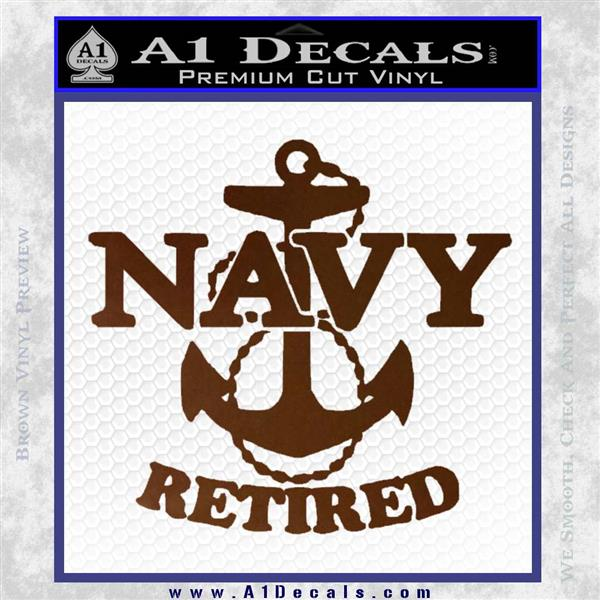 United States Navy Retired Anchor Decal Sticker 187 A1 Decals