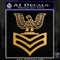 United States US Navy Petty Officer 1st Class E6 Decal Sticker Metallic Gold Vinyl Vinyl 120x120