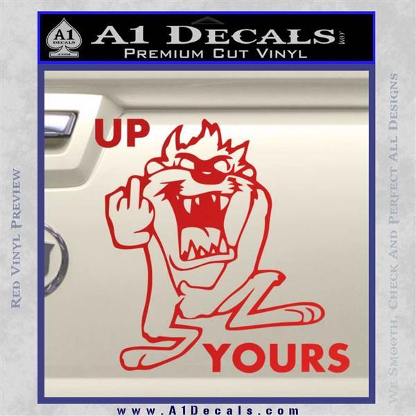 Up Yours Taz Flip The Bird Vinyl Decal Sticker 187 A1 Decals