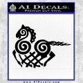 VIKING ODIN SLEIPNIR MEDIEVAL VINYL DECAL STICKER Black Logo Emblem 120x120