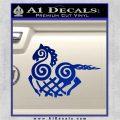 VIKING ODIN SLEIPNIR MEDIEVAL VINYL DECAL STICKER Blue Vinyl 120x120