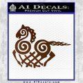 VIKING ODIN SLEIPNIR MEDIEVAL VINYL DECAL STICKER Brown Vinyl 120x120