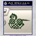 VIKING ODIN SLEIPNIR MEDIEVAL VINYL DECAL STICKER Dark Green Vinyl 120x120