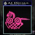VIKING ODIN SLEIPNIR MEDIEVAL VINYL DECAL STICKER Hot Pink Vinyl 120x120