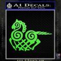 VIKING ODIN SLEIPNIR MEDIEVAL VINYL DECAL STICKER Lime Green Vinyl 120x120