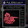 VIKING ODIN SLEIPNIR MEDIEVAL VINYL DECAL STICKER Pink Vinyl Emblem 120x120