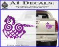 VIKING ODIN SLEIPNIR MEDIEVAL VINYL DECAL STICKER Purple Vinyl 120x97