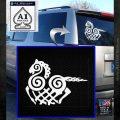 VIKING ODIN SLEIPNIR MEDIEVAL VINYL DECAL STICKER White Emblem 120x120