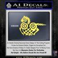VIKING ODIN SLEIPNIR MEDIEVAL VINYL DECAL STICKER Yelllow Vinyl 120x120