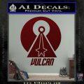 Vulcan Logo Spock TXT Decal Sticker Dark Red Vinyl 120x120