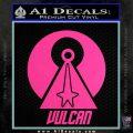 Vulcan Logo Spock TXT Decal Sticker Hot Pink Vinyl 120x120
