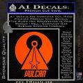 Vulcan Logo Spock TXT Decal Sticker Orange Vinyl Emblem 120x120