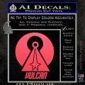 Vulcan Logo Spock TXT Decal Sticker Pink Vinyl Emblem 120x120