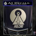 Vulcan Logo Spock TXT Decal Sticker Silver Vinyl 120x120