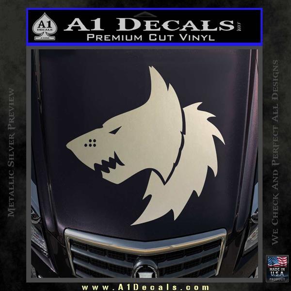 Warhammer 40k space wolves decal sticker silver vinyl 120x120