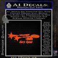 Warp Speed TXT Decal Sticker Enterprise Trek Orange Vinyl Emblem 120x120