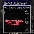 Warp Speed TXT Decal Sticker Enterprise Trek Pink Vinyl Emblem 120x120