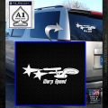Warp Speed TXT Decal Sticker Enterprise Trek White Emblem 120x120