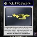 Warp Speed TXT Decal Sticker Enterprise Trek Yelllow Vinyl 120x120
