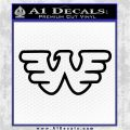 Waylon Jennings Decal Sticker Black Logo Emblem 120x120