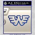 Waylon Jennings Decal Sticker Blue Vinyl 120x120