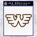 Waylon Jennings Decal Sticker Brown Vinyl 120x120