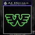 Waylon Jennings Decal Sticker Lime Green Vinyl 120x120