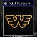 Waylon Jennings Decal Sticker Metallic Gold Vinyl Vinyl 120x120