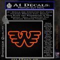 Waylon Jennings Decal Sticker Orange Vinyl Emblem 120x120
