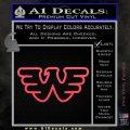 Waylon Jennings Decal Sticker Pink Vinyl Emblem 120x120