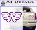 Waylon Jennings Decal Sticker Purple Vinyl 120x97