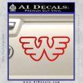 Waylon Jennings Decal Sticker Red Vinyl 120x120