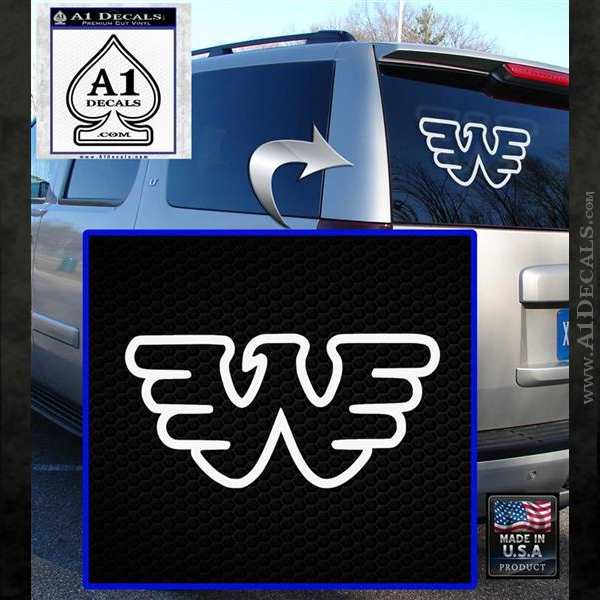 Waylon Jennings Decal Sticker White Emblem