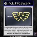Waylon Jennings Decal Sticker Yelllow Vinyl 120x120