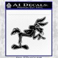 Wiley Coyote Pointing Decal Sticker Black Logo Emblem 120x120