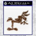 Wiley Coyote Pointing Decal Sticker Brown Vinyl 120x120