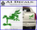 Wiley Coyote Pointing Decal Sticker Green Vinyl 120x97